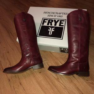 NEW Frye Melissa Button Boot Size 6 Bordeaux